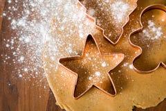 Galletas de la Navidad de la hornada Foto de archivo libre de regalías