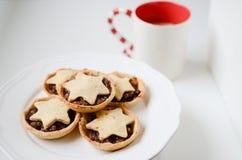 Galletas de la Navidad del invierno Fotografía de archivo libre de regalías