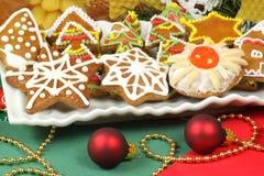 Galletas de la Navidad del pan de jengibre Imágenes de archivo libres de regalías