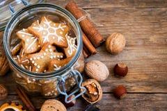 Galletas de la Navidad del pan de jengibre Foto de archivo libre de regalías
