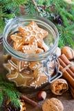Galletas de la Navidad del pan de jengibre Fotografía de archivo