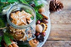 Galletas de la Navidad del pan de jengibre Fotos de archivo