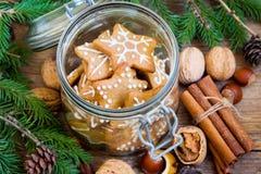 Galletas de la Navidad del pan de jengibre Imagen de archivo