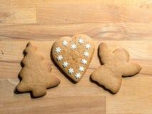 Galletas de la Navidad del pan de jengibre imagen de archivo libre de regalías