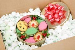Galletas de la Navidad del pedido por correo Fotografía de archivo