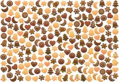 Galletas de la Navidad dispuestas libremente Stock de ilustración