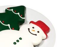 Galletas de la Navidad en blanco Imagen de archivo