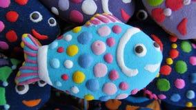 Galletas de la Navidad en la forma de pescados Imágenes de archivo libres de regalías