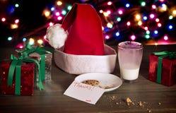 Galletas de la Navidad para Santa Fotografía de archivo