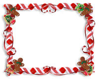 Galletas de la Navidad y marco del caramelo Imagen de archivo