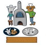 Galletas de la panadería del perro encendido Fotografía de archivo libre de regalías