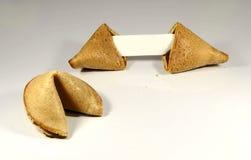 Galletas de la suerte con el mensaje en blanco adaptable fotografía de archivo libre de regalías