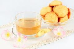 Té y galletas Fotos de archivo