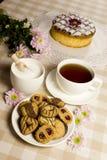 Galletas de la torta del té Imágenes de archivo libres de regalías