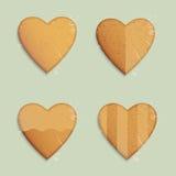 Galletas de las dimensiones de una variable de los corazones Fotografía de archivo