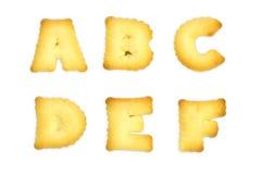 Galletas de las letras Imagen de archivo