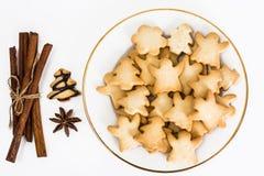 Galletas de los Años Nuevos y de la Navidad Imagen de archivo libre de regalías
