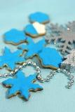 Galletas de los copos de nieve Foto de archivo