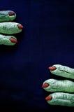 Galletas de los fingeres de la bruja de Halloween Imagen de archivo libre de regalías