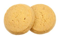 Galletas de mantequilla aisladas Imagen de archivo libre de regalías