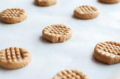 Galletas de mantequilla de cacahuete Imágenes de archivo libres de regalías
