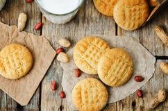 Galletas de mantequilla de cacahuete Fotos de archivo libres de regalías