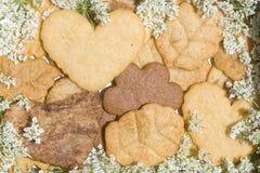 Galletas de mantequilla de la Navidad Imagen de archivo libre de regalías