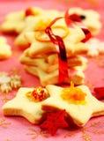 Galletas de mantequilla de la Navidad fotografía de archivo libre de regalías