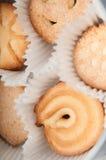 Galletas de mantequilla envueltas imágenes de archivo libres de regalías
