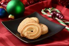 Galletas de mantequilla para la Navidad Imagenes de archivo