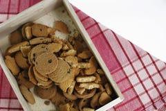 Galletas de microprocesador de chocolate, galletas hechas en casa de los pasteles del chocolate en a fotos de archivo