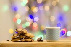 Galletas de Navidad del chocolate Fotografía de archivo
