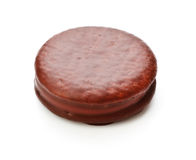 Galletas de Sandwitch del chocolate Imagen de archivo libre de regalías