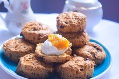 Galletas de té inglesas, scones ingleses Foto de archivo