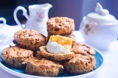 Galletas de té inglesas, scones ingleses Fotografía de archivo