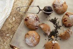 Galletas de torta dulce con la opinión superior del cacahuete Imágenes de archivo libres de regalías