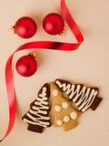Galletas del árbol de navidad Imágenes de archivo libres de regalías