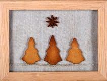 Galletas del árbol de navidad Imagen de archivo libre de regalías