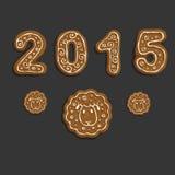 Galletas del Año Nuevo Fotografía de archivo