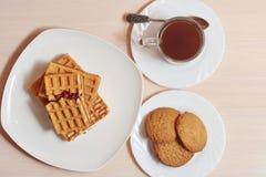 Galletas del café de las obleas Fotografía de archivo libre de regalías
