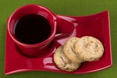 Galletas del café y de la harina de avena fotografía de archivo libre de regalías