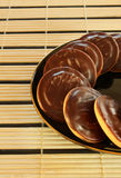 Galletas del chocolate dulce Imagen de archivo libre de regalías
