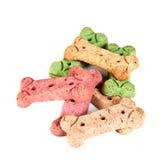 Galletas del convite del perro, aisladas Imagen de archivo libre de regalías