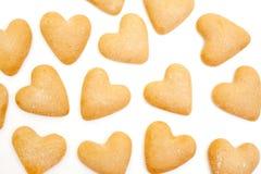 Galletas del corazón Imagen de archivo libre de regalías