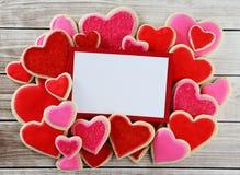 Galletas del corazón Fotos de archivo