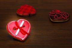 Galletas del corazón Imágenes de archivo libres de regalías