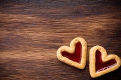 Galletas del corazón foto de archivo libre de regalías