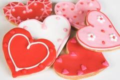 Galletas del corazón Fotografía de archivo libre de regalías