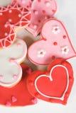 Galletas del corazón Imagen de archivo