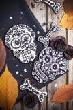 Galletas del cráneo para Halloween Imagen de archivo libre de regalías